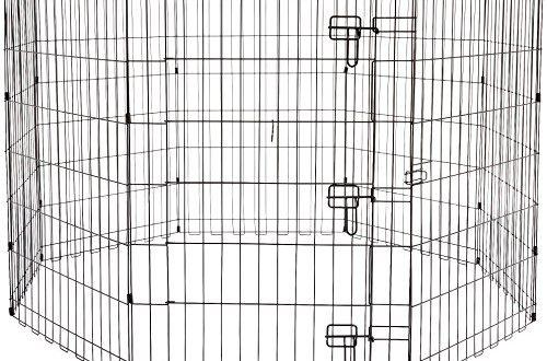 AmazonBasics – Faltbares Metall Gehege fuer Haustier Hund Trainingszaun 1524 x 500x330 - AmazonBasics – Faltbares Metall-Gehege, für Haustier, Hund, Trainingszaun, 152,4 x 152,4 x 91,4 cm