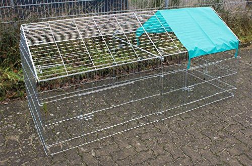Rinderohr Kaninchenauslauf Dach mit Netz 220 x 103 x 103 500x330 - Rinderohr Kaninchenauslauf Dach mit Netz 220 x 103 x 103 cm