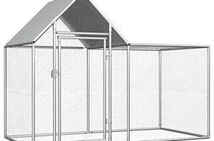 UnfadeMemory Huehnerstall Huehnerkaefig mit Wasserfestem Dach Verzinkter Stahl Freilaufgehege Hasenstall 310x205 - UnfadeMemory Hühnerstall Hühnerkäfig mit Wasserfestem Dach Verzinkter Stahl Freilaufgehege Hasenstall Hühnerhaus geeignet für Huhn, Henne, Ente, Gans usw. (#A- 2 x 1 x 1,5 m)
