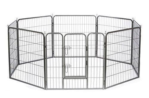 dibea Freilaufgehege Welpen Gitterfreilauf Katzen (M) 80x80 cm